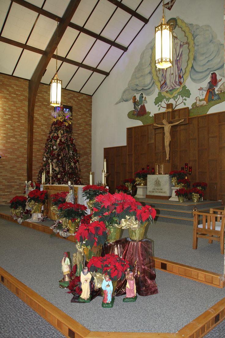 St Bernard's Catholic Church Sanctuary at Christmas in 2013