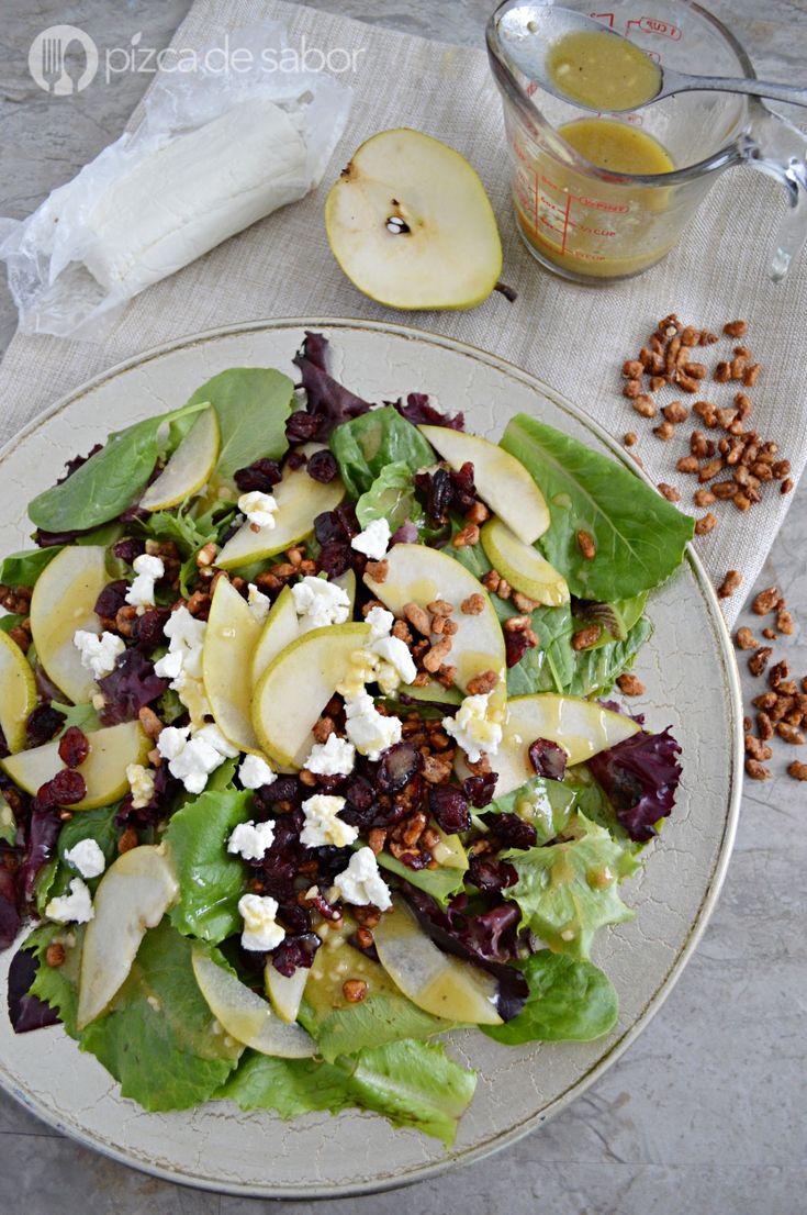 Aderezo de mostaza y miel o mostaza dulce (listo en 3 minutos) www.pizcadesabor.com