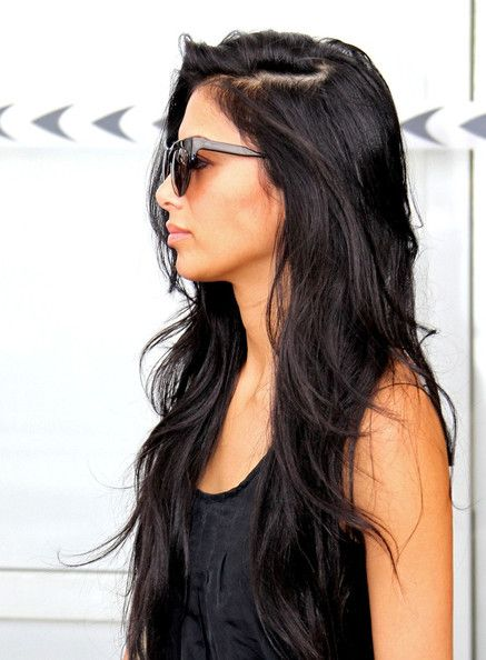 Love her hair long and black