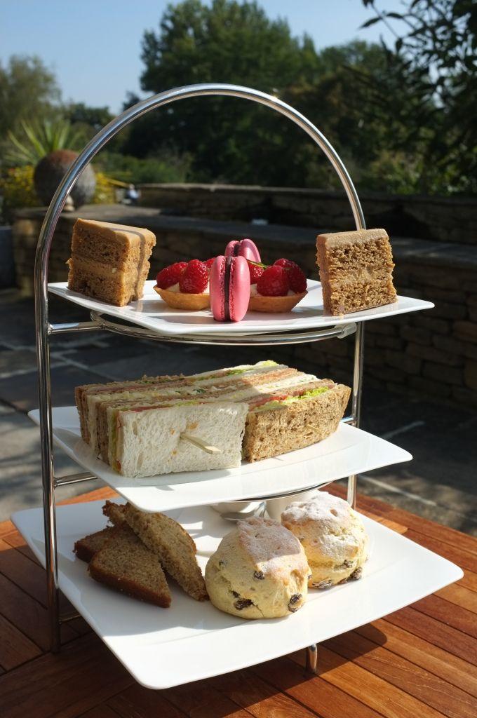 Afternoon tea at Whatley Manor, Malmesbury.