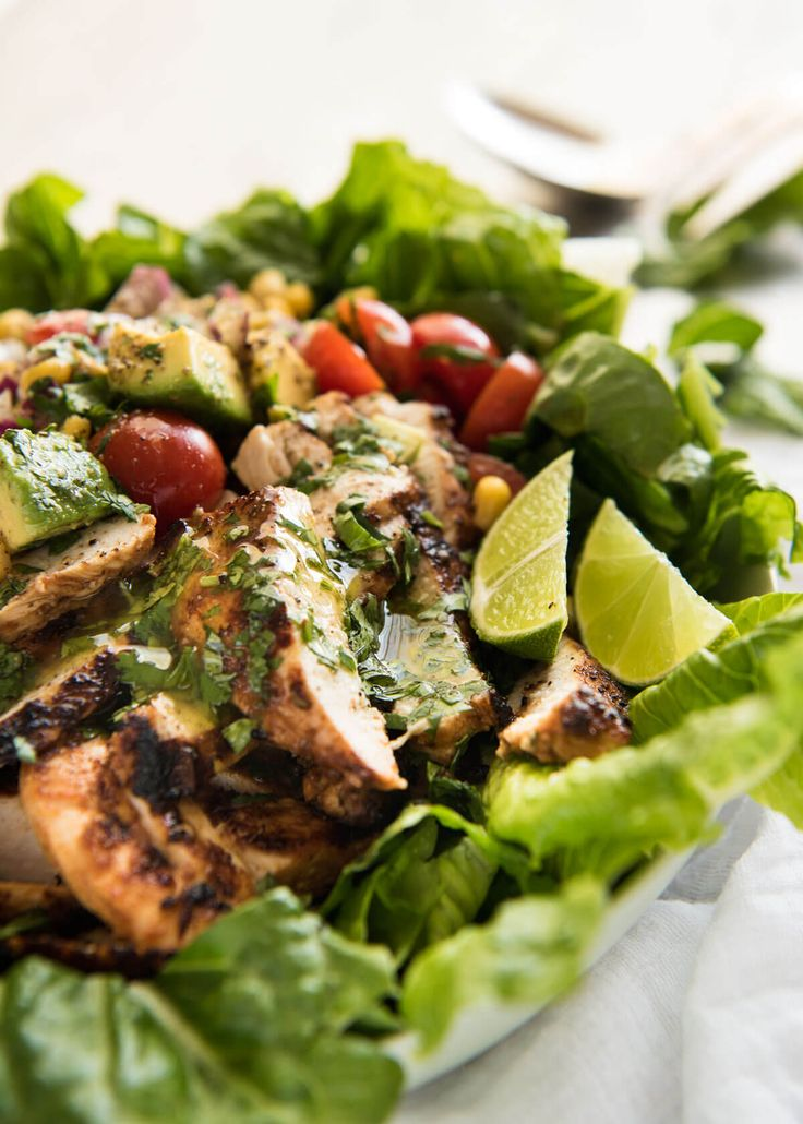 Loaded with all the good stuff! This Mexican Chicken and Avocado Salad is incredible - flavour packed and fresh, with a beautiful lime salad dressing.