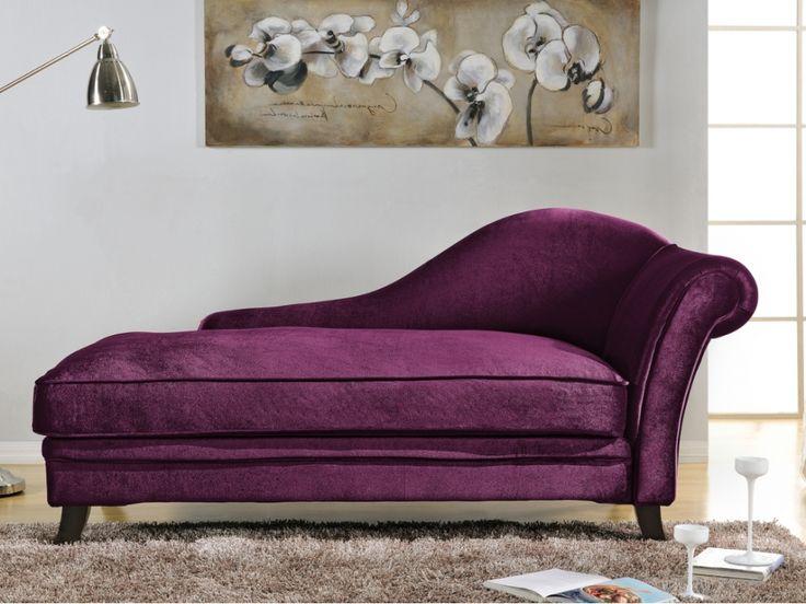 1000 id es sur le th me canap violet sur pinterest chaise violet meubles violet et repose pieds - Meridienne velours ...
