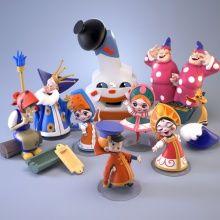 Russian cartoons toy figures Vovka into Thirtyten Kingdom