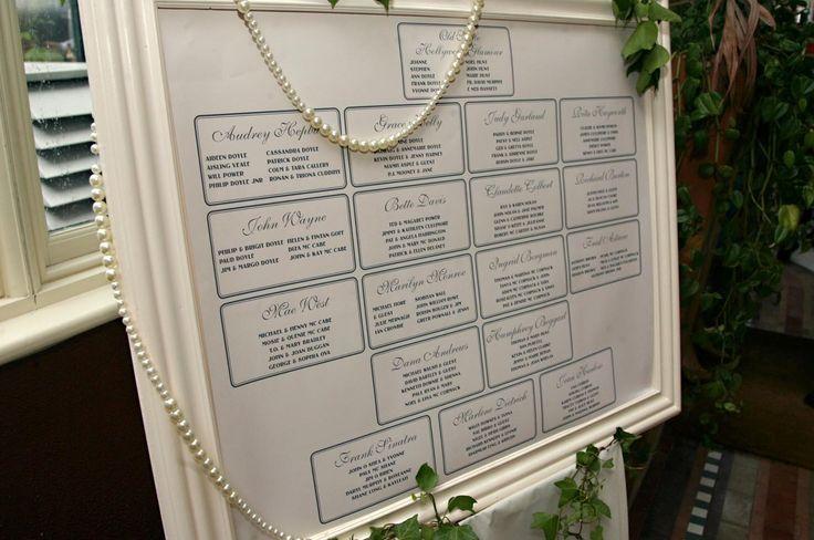 table plan frame