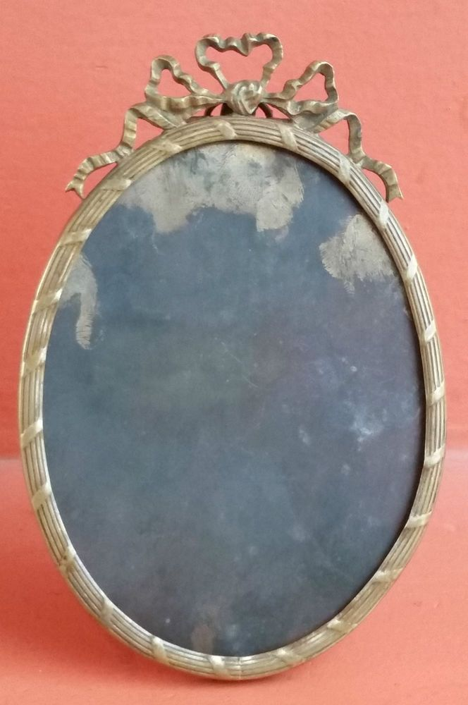 Antique & Beautiful European Picture Frame  Bronze Form Oval 19th