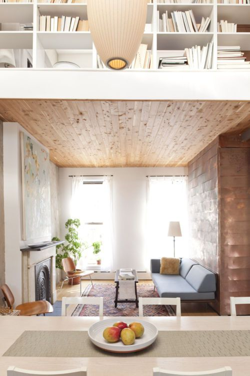 Image Via: Britta Nickel: Spaces, Dining Area, Living Rooms, Cedar Closet, Small Apartment, Small Rooms, House, Lighting Well, Woods Ceilings