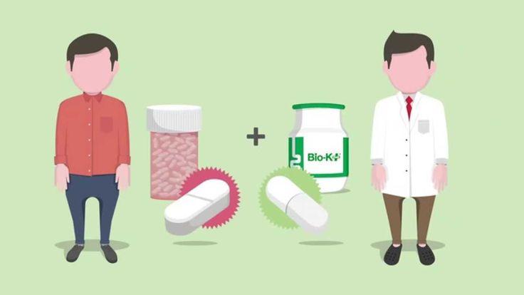 Lowered risk of antibiotic-related diarrhea