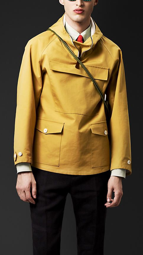 Burberry prorsum bonded cotton jacket, luxury version of the sailor oilskin.