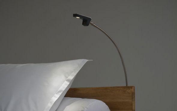 LED nachtlamp voor als je nog wat wil lezen in bed.