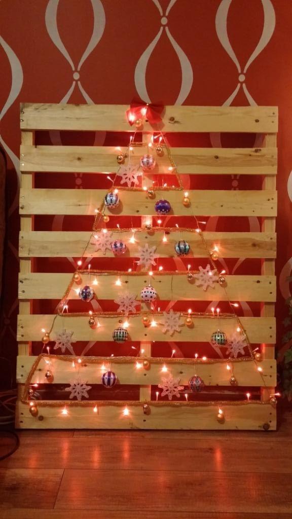 /pallet christmas tree/ - choinka w 10 minut czyli święta 2014