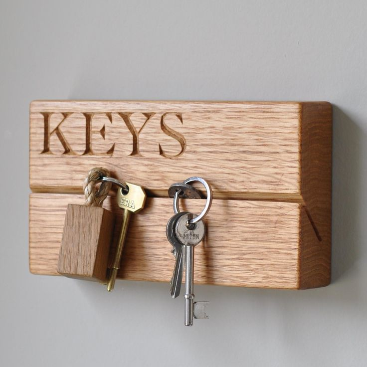 Best 25 wooden key holder ideas on pinterest key and letter holder key rack and mail holder - Wooden letter and key holder ...