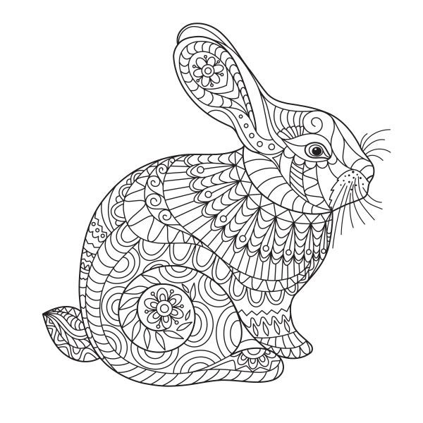 Intricate Easter Bunny Bunny Coloring Pages Easter Bunny Colouring Easter Coloring Pages