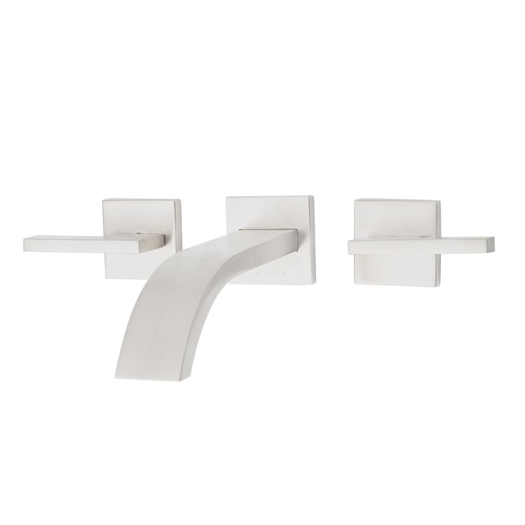 This Dyconn Faucet signature series two handle modern wall mount bath faucet will add contemporary sophistication to your bathroom. The sleek, distinctive design gives this faucet a minimalist appeal that will update the look of your bathroom.