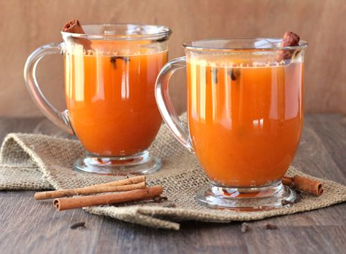 ... has arrived. Hot Orange Spiced Cider holds all that cheer in a glass