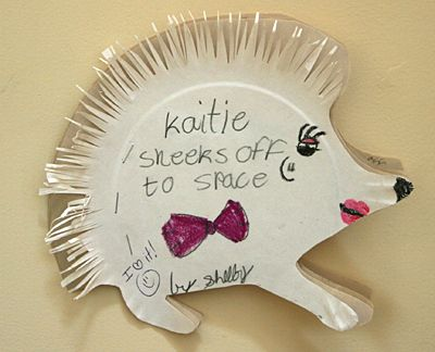 Hedgehog Paper Plate Book Project for Jan Brett