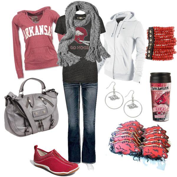 Perfect game day attire!: Fashion, Pig Sooie, Arkansas Razorbacks Love, Style, Hog, Woopig, Arkansas Razorback Outfit, Woo Pig, Arkansas Razorbacks Clothes