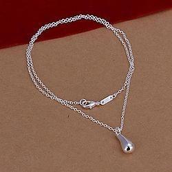 collier goutte d'eau plaqué argent MB1133747