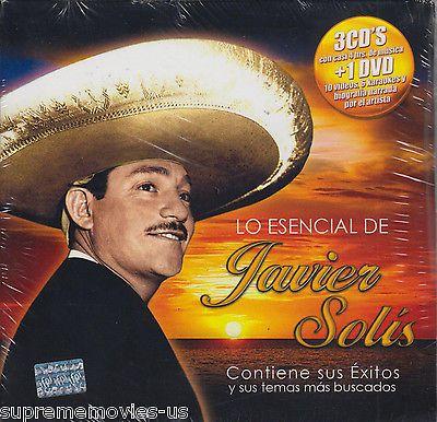 NEW - Lo Esencial De Javier Solis CD 3 CDs + 1 DVD 10 Videos 6 karaokes