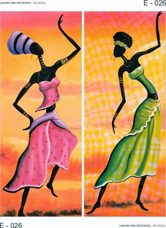 LAMINAS PARA DECOUPAGE DECOPAPER: LÁMINAS AFRICA - ETNICAS 10x25 CM.
