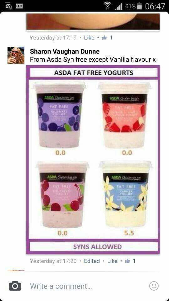 Asda  Yogurts