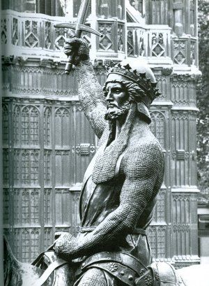 Statue of Richard the Lionheart, outside the Houses of Parliament, London