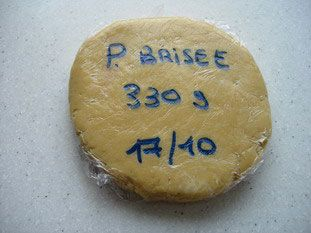 Short crust pastry (pâte brisée): This is for sweet or savoury tarts ...