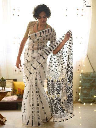 Buy handloom checks sarees from www.suta.in