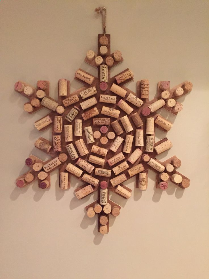 Wine Corks - Upcycled Wine Cork Snow Flake