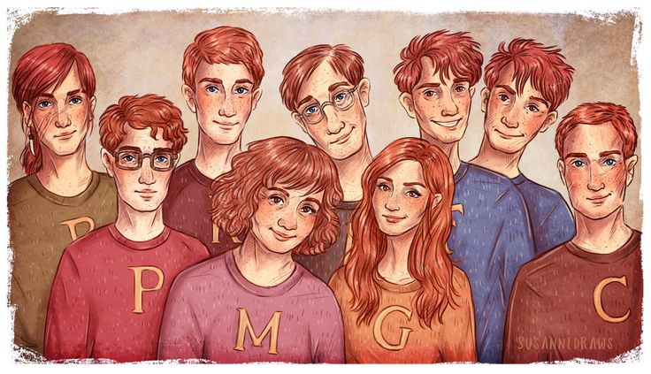 Fred and George kind of look like conjoined twins in this