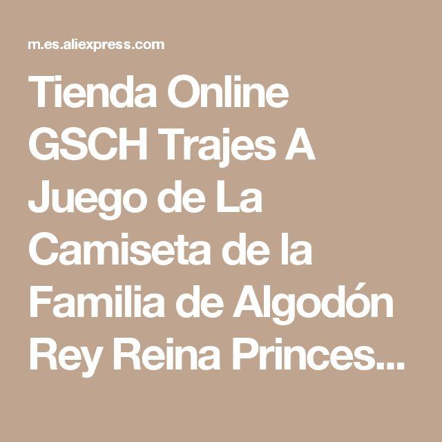 Tienda Online GSCH Trajes A Juego de La Camiseta de la Familia de Algodón Rey Reina Princesa Príncipe corona tee camiseta Para Mujer Hombre Niña Niño Ropa carta | Aliexpress móvil