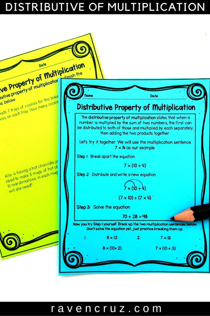 Distributive Property Of Multiplication Worksheets 3rd Grade Distributive Property Of Multiplication Properties Of Multiplication Elementary Math [ 1104 x 736 Pixel ]