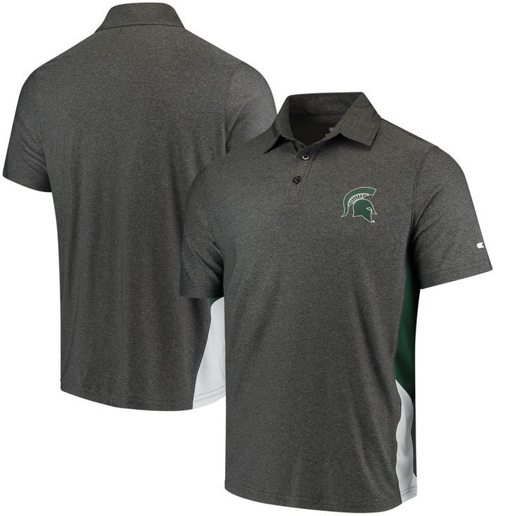 Michigan State Spartans Colosseum The Bro Polo - Charcoal