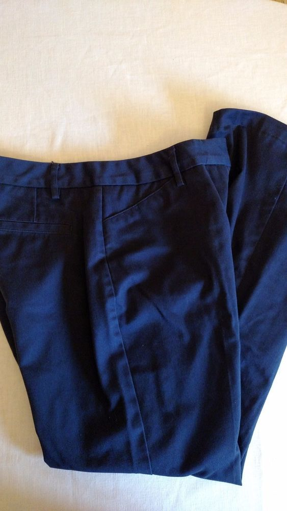 Lands End Women's Slacks Navy Blue Size 8 #LandsEnd #CasualPants