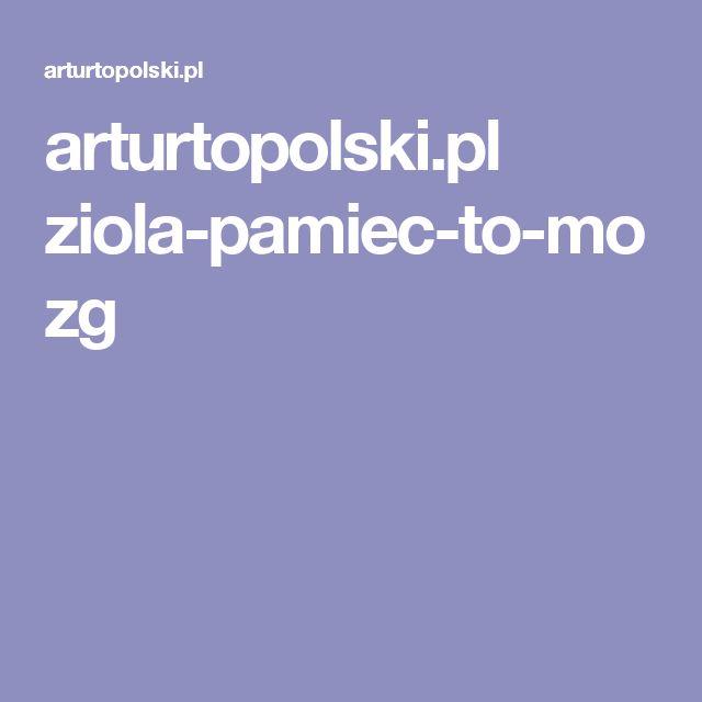 arturtopolski.pl ziola-pamiec-to-mozg