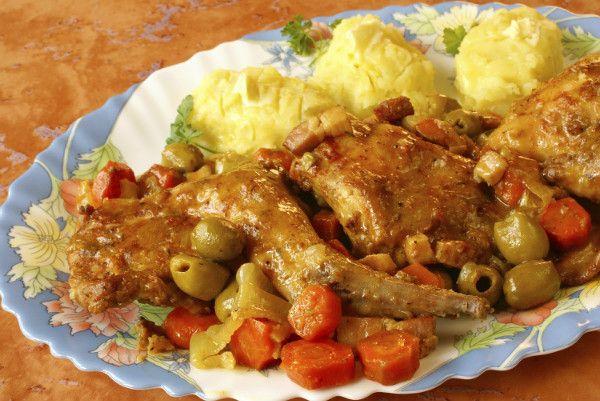 Esta receta es de lo más saludable porque la carne de conejo es baja en grasa.