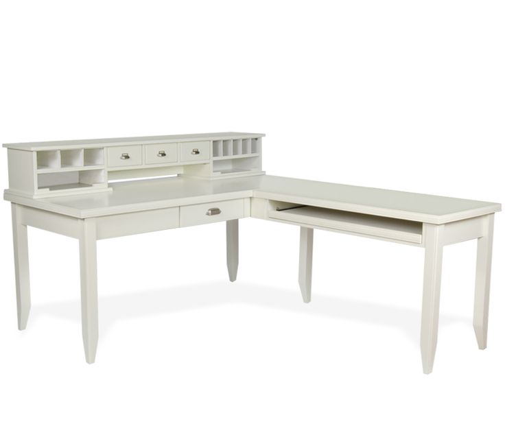 17 Best Ideas About White Desk With Hutch On Pinterest
