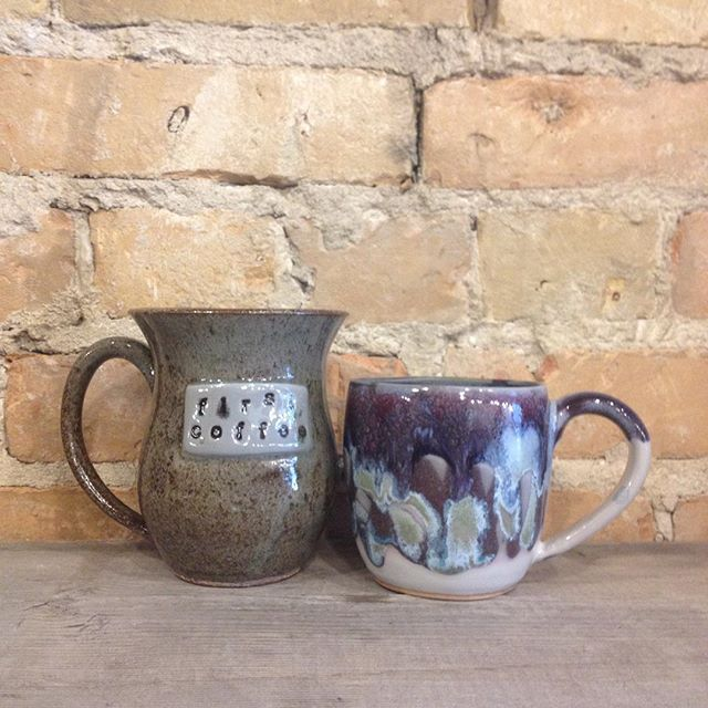 Fired Up Pottery is the newest member of our local family. Plenty of mugs and bowls to choose from! #supportlocal #shoplocal #osbornevillage #madeinmanitoba #madeinwinnipeg
