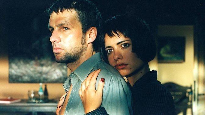 "Tobias Langhoff as Dan, Sandra Speichert as Alexandra as their characters circa mid 80s in ""Sturmzeit"""