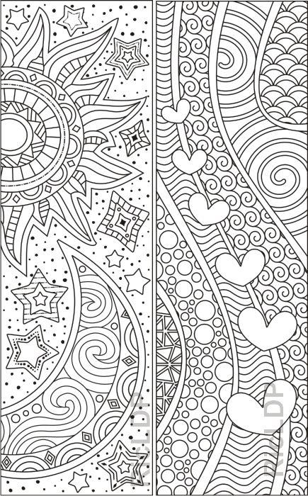 abstraktdesign färbung lesezeichen  bookmarks