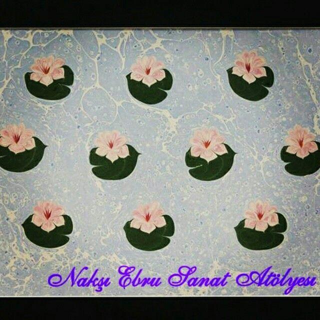 Nilüfer Çiçeği Nakşı Ebru Sanat Atölyesi