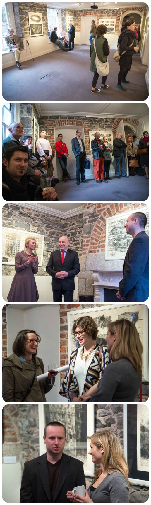 Great opening of Marcin Bialas Exhibition on Thursday with the Polish ambassador & the artist himself! Thanks!