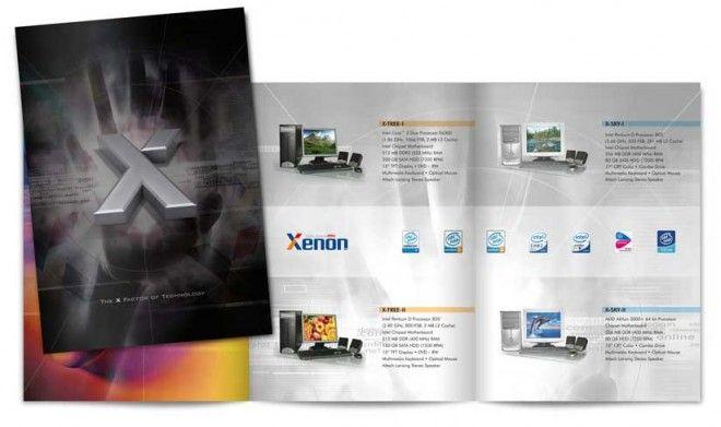 diseño creativo folleto corporativo
