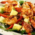 Tropical Shrimp Salad -- ps: I have tried this recipe (easy AND yummy) AND I have added a can of Del Monte mango (yes, since my kids left home I've become VERY lazy in my cooking)