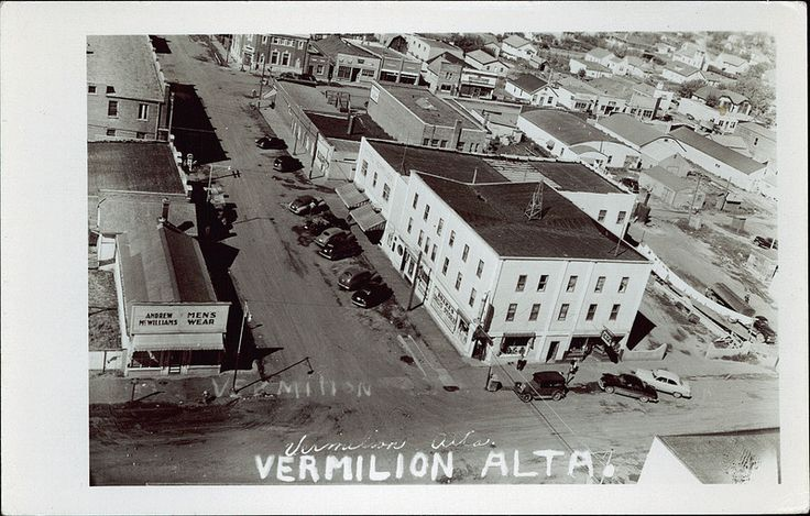 Vermilion Alberta, McWilliams Men's Wear on bottom left (late 40's? - just going by the cars)