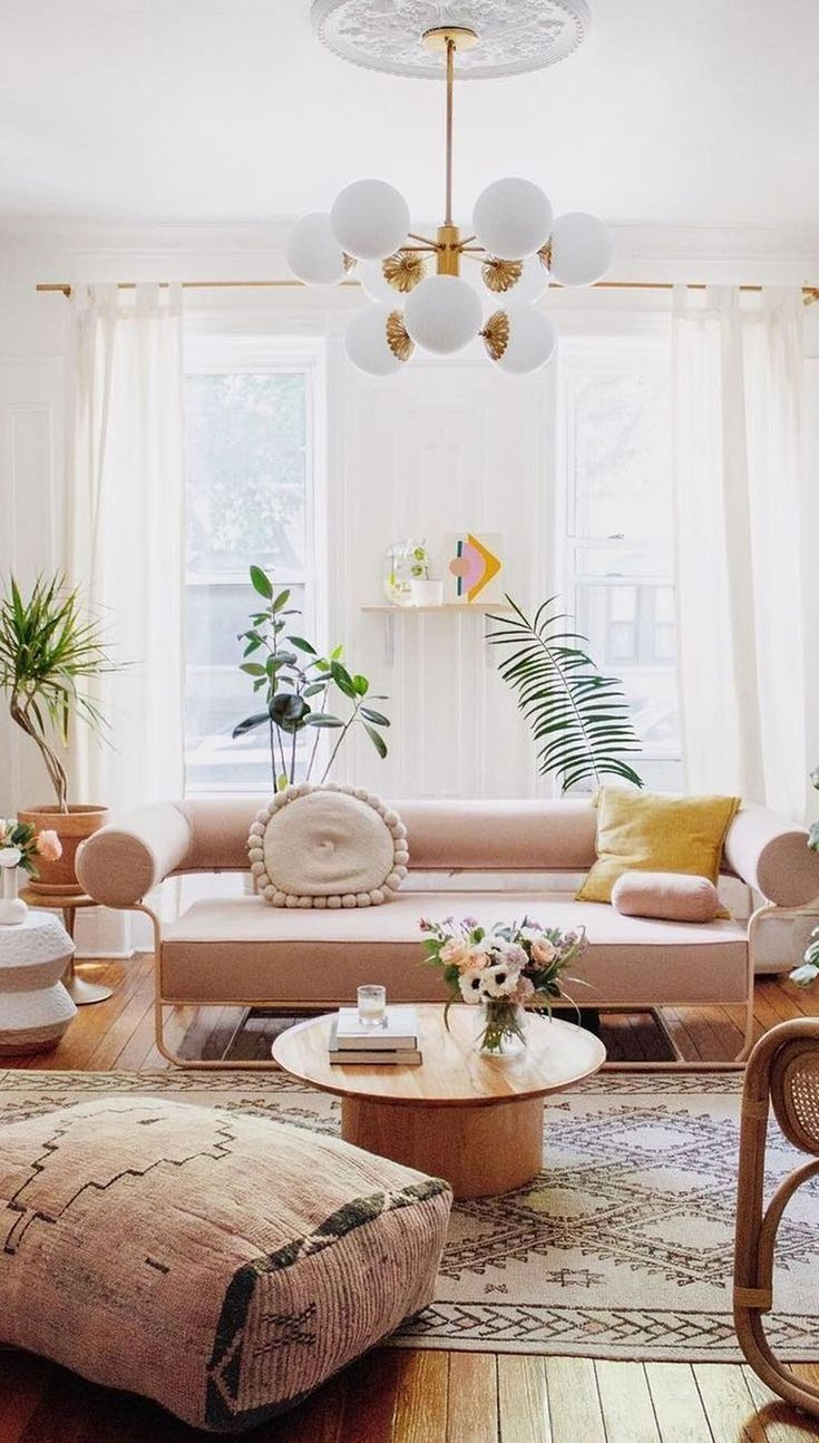 The Best Summer Interior Design Ideas You Will Love Homyhomee Boho Living Room Living Room Designs Apartment Decor Creative living room ideas