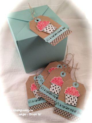 DIY Cupcake Box, Cupcake Party, Stampin' Up!, Gift Box Punch Board