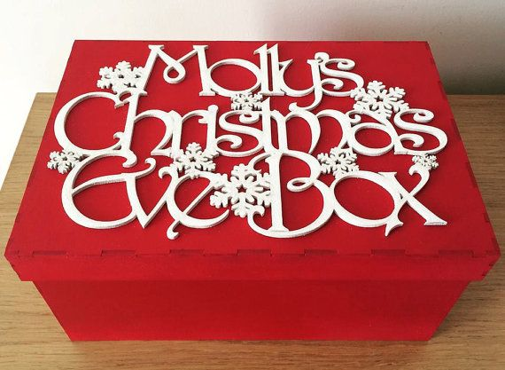 personalised christmas eve box by PoppetsandPrincesses on Etsy