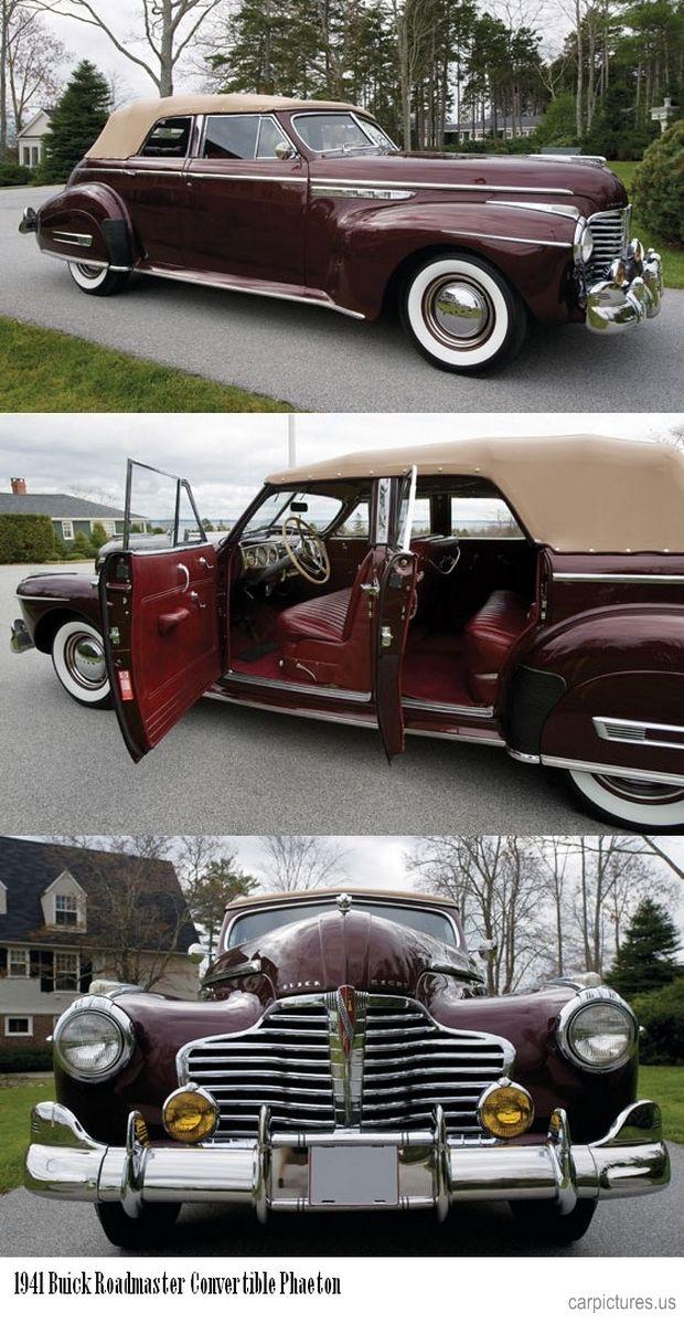1941 Buick Roadmaster Convertible Phaeton. carpictures.us/