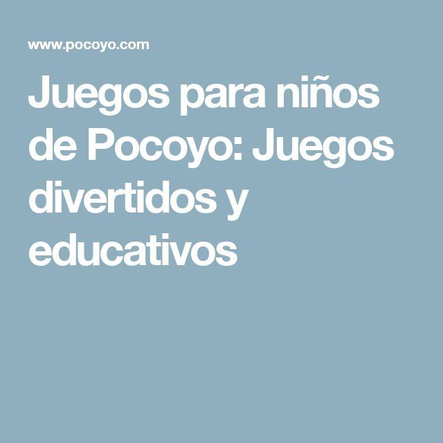 Juegos para niños de Pocoyo: Juegos divertidos y educativos