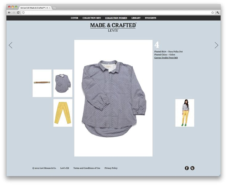 Levi's Made and Crafted Website Product Page by Urform